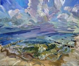 03_16 Usedom-Strand 1, 2011, Öl auf Leinwand, 100 x 120 cm