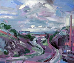 04_13 Tal bei Dresden b, 2007, Öl auf Leinwand, 60 x 70 cm