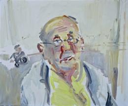 05_08 Dr. Gluch erzählt vom Krieg, 2011, 100 x 120 cm, Öl auf Leinwand