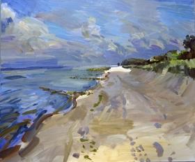 46 Usedom-Strand 2, ONH, 2011, Öl auf Leinwand, 100 x 120 cm