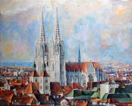web-über-den-Dächen-von-Regensburg_Öl_40x50cm_2015