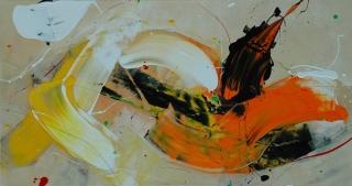 web_Milanda de Mont 'Bright moment' acrylic on canvas 170cm x 90cm