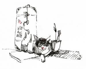 web-Katze druck