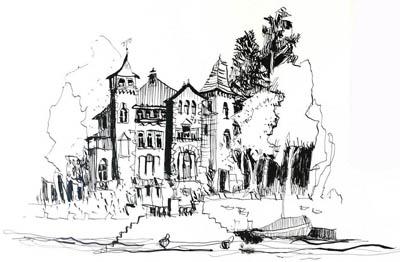 Anleitung, Tutorial Zeichnen mit feder und Tinte von Tine Klein Tinte für Aquarell, Skizzenbuch, Zeichnen lernen, Federhalter