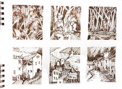 Anleitung, Tutorial Tinte von Tine Klein Tinte für Aquarell, Skizzenbuch, Zeichnen lernen