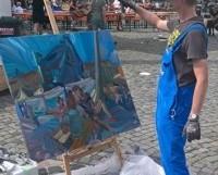Malen im Gegenüber der Umgebung